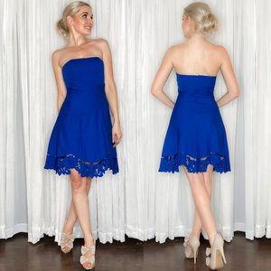 Betsey Johnson Blue Strapless Sundress